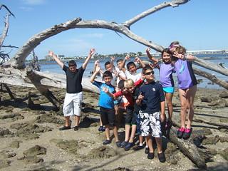 Group having fun Island Style