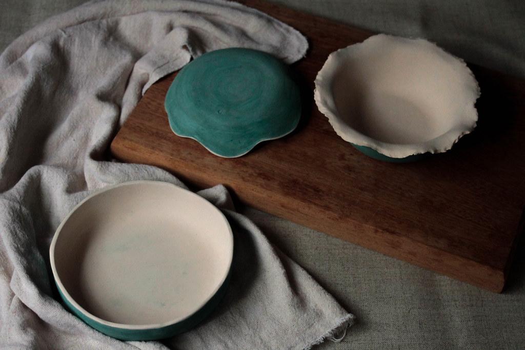 Peças de cerâmica de Abril - biscoito para esmaltar