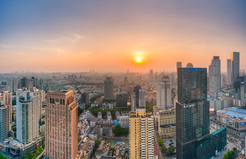 china city sunset summer urban panorama sun skyline skyscraper sunrise mall spring nikon outdoor tall nanjing hdr nikond800 tamronsp1530f28