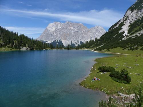 Seebensee with Zugspitze massif