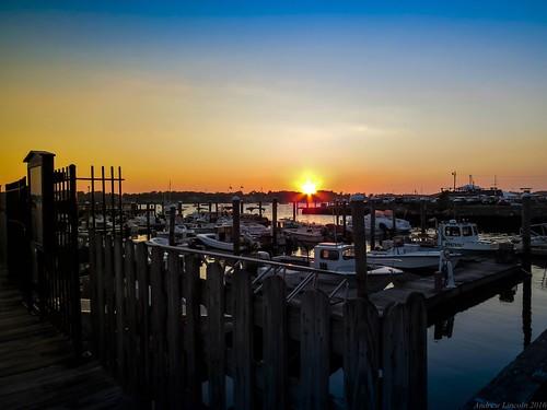 sunset bristol island boat dock rhode