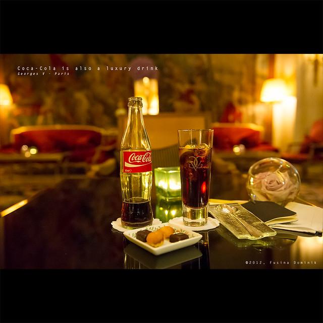 Coca-Cola is also a luxury drink | Georges V - Paris