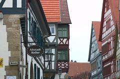 Bietigheim-Bissingen Germany Schieringerstraße 'Lens Nikon 105mm f/2.8G IF-ED AF-S VR Micro Nikkor' Half-Timbered 'timber-framed building'