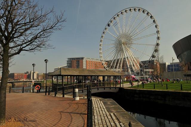 Liverpools 200 Foot Big Wheel At Albert Docks