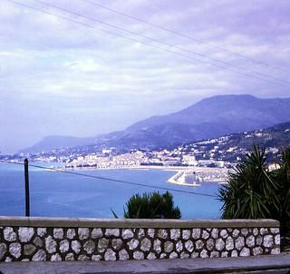 France   -   Menton   -  Overlooking Monacco   -   June 1970