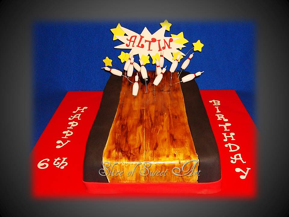 Enjoyable Bowling Lane Birthday Cake Bowling Lane Cake For A Bowling Flickr Personalised Birthday Cards Paralily Jamesorg