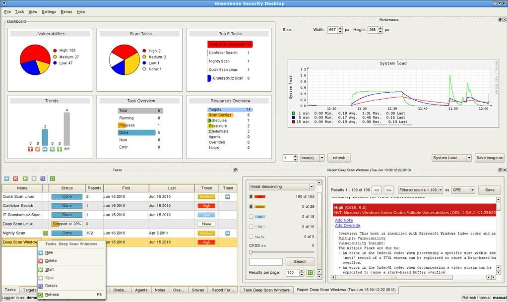 OpenVAS | OpenVAS screenshot Being a Network administrators