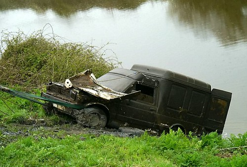 Cars pulled out from Somerset River:  Fiat 127 Fiorino Van | by dgk_88