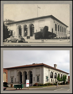 photo + postcard - 2417 Central Ave. Then & Now