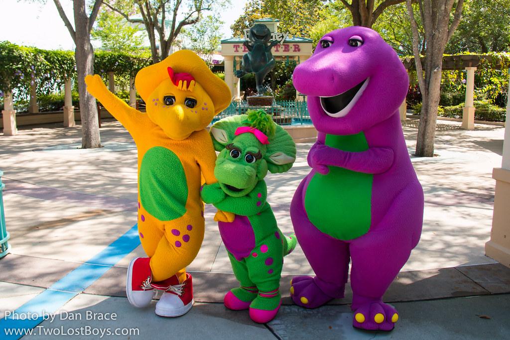 Meeting Barney Bj And Baby Bop Universal Orlando Resort