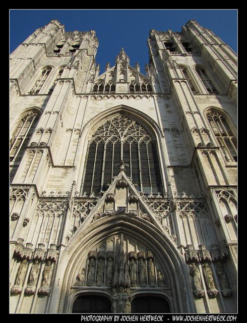 Cathedrale Saints-Michel-et-Gudule de Bruxelles, Brussels, Belgium
