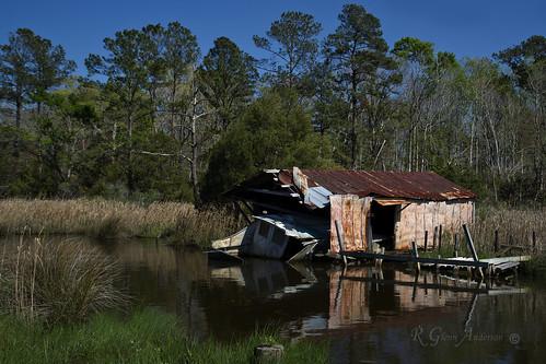 old pier boat coastal abandon marsh pilings boathouse bayboro brackish tidalcreek a850