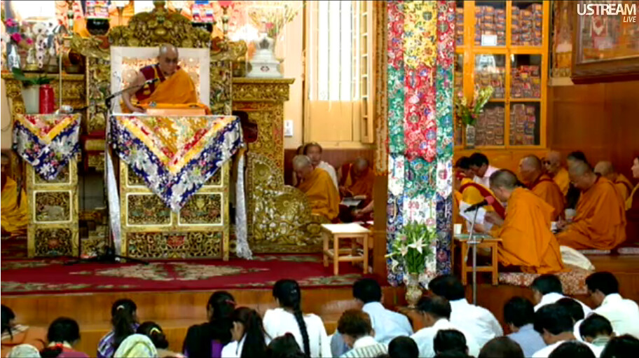 His Holiness the Great 14th Dalai Lama, teaching live over