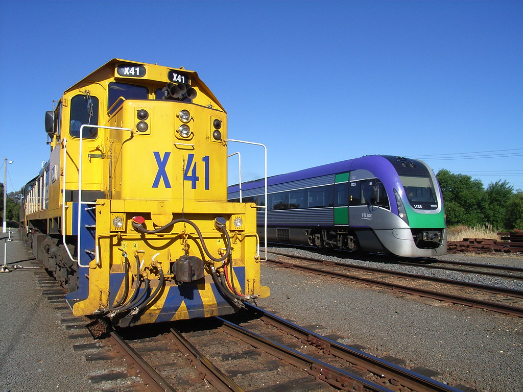 VL35 passes X41 on an up Melb passenger service by bukk05