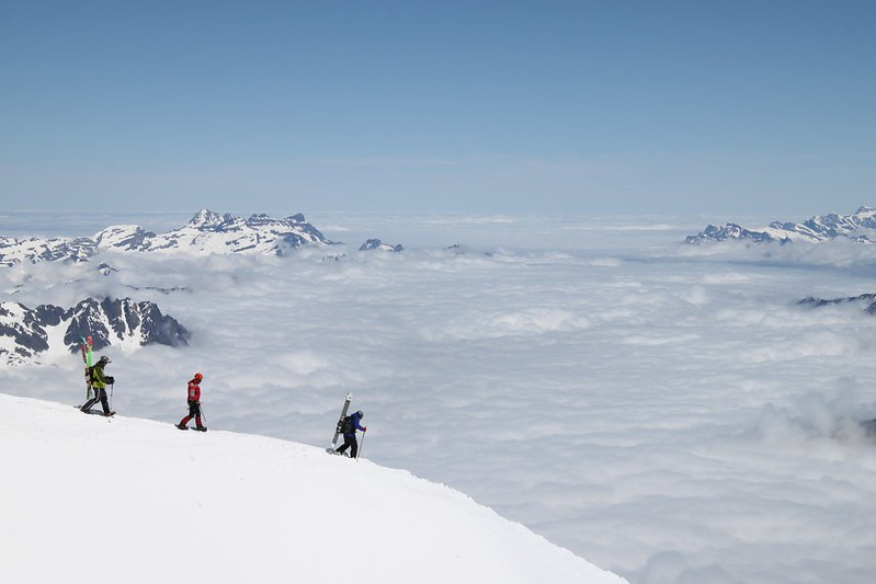 Heading out from the Aiguille du Midi