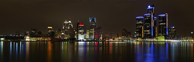 Detroit Skyline from Windsor Canada