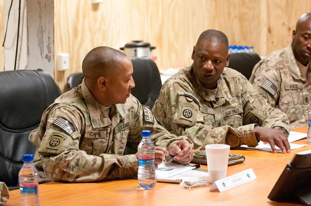 CSM Capel visits FOB Warrior | Command Sgt  Maj  Thomas Cape