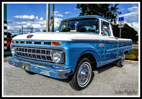 ford truck cab pickup f100 custom 1965 styleside