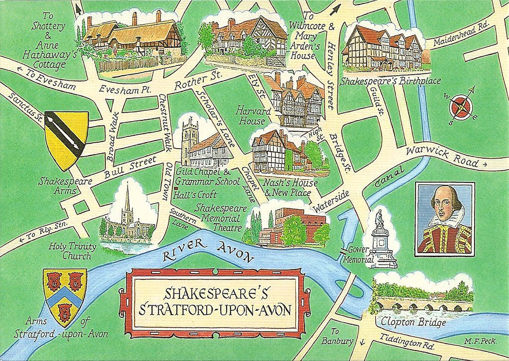 Map Of Stratford Upon Avon Shakespeare's Stratford Upon Avon, England Map | Private Swa… | Flickr