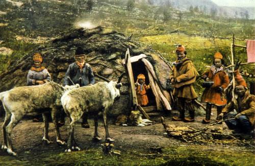 Eldre postkort med samer