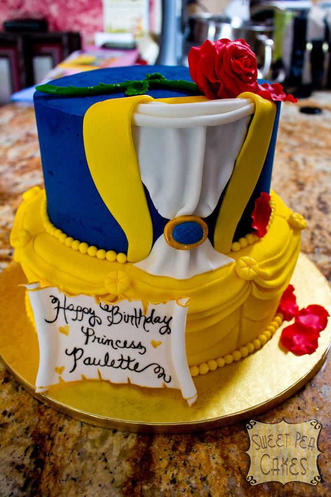 Outstanding Beauty And The Beast Birthday Cake Two Tier Beauty And The Flickr Funny Birthday Cards Online Elaedamsfinfo