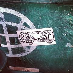 #kamz waste van by reading terminal #stickers #streetart #philly