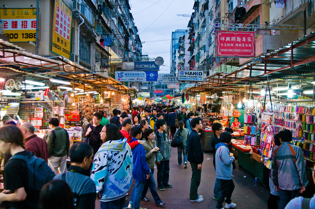 Hong Kong, Apr-12 | Electronics market at night, where you c… | Flickr