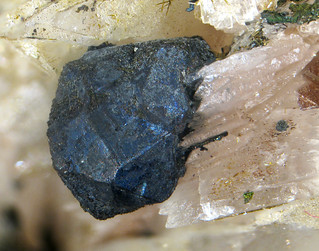 Bornite Crystal on Calcite | by Paul's Lab