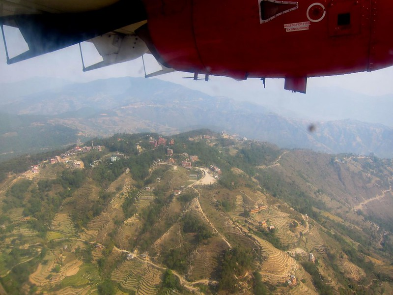 Flight to Lukla, Nepal