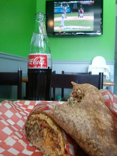 Heaven is eating a burrito, drinking a Mexican Coke, and watching the ballgame.