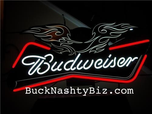 Budweiser Motorcycle Eagle Neon Beer Sign #HarleyDavidson