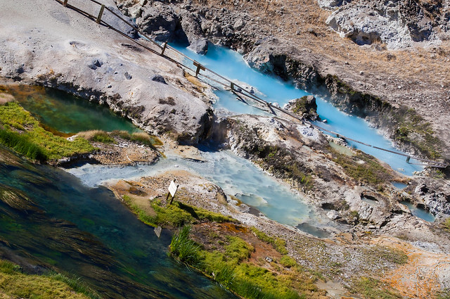 Small hot springs near Mammoth Lakes
