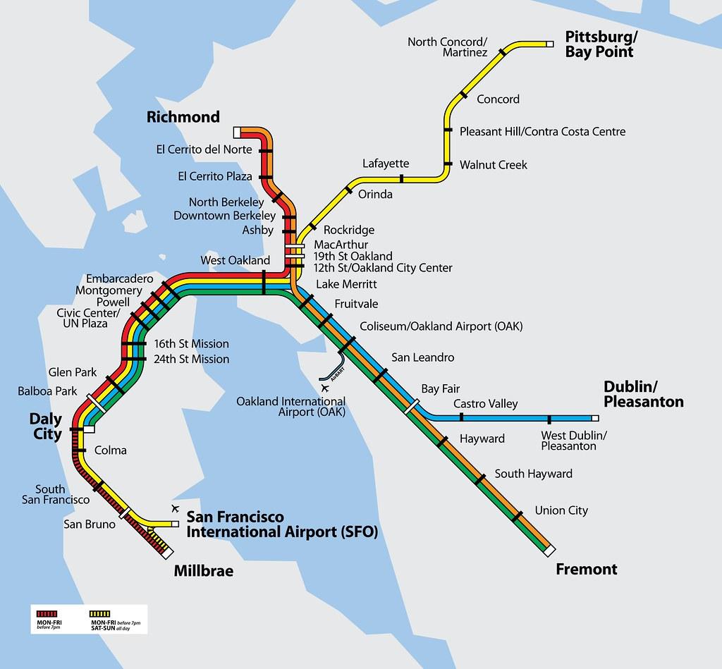 BART System Map | Official BART Map: www.bart.gov/stations/i ... on capitol corridor, downtown san jose, bay area map, capitol corridor map, septa map, caltrain map, transbay tube, seattle rapid transit map, san francisco muni, marietta map, patco map, bart police, metrolink map, santa clara, alum rock, city of oakland ca map, regional rail map, miami metrorail map, oakland international airport map, silicon valley bart extension, altamont commuter express, metro rail map, san fran metro map, west oakland, golden gate transit, muni map, fremont hub map, max map, diridon station, parker map, wmata metro map, vta map,