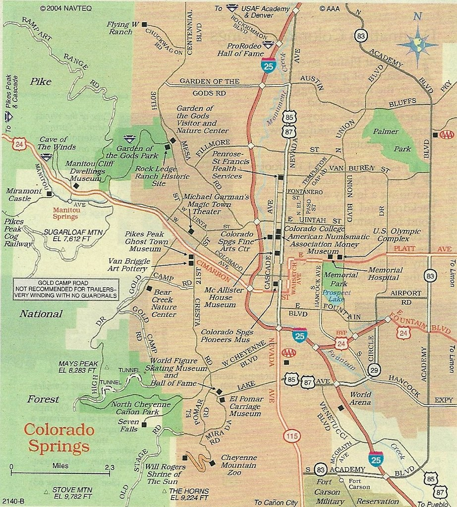 Map of Colorado Springs, 2012 | A somewhat more detailed map… | Flickr