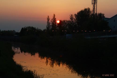 bridge ireland summer building tree night train sunrise canal spring may 2012 mbe royalcanal leixlip