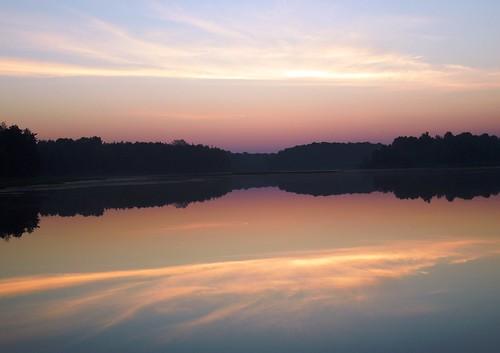 ohio reflection beauty sunrise pastel mogadorereservoir