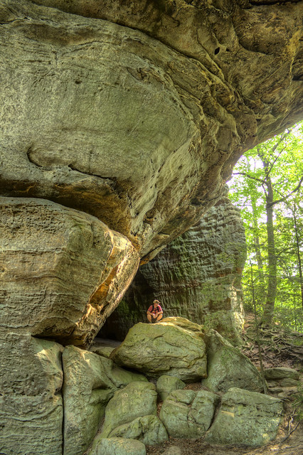 South Arch of Twin Arches, David Sutherland, Big South Fork NRRA, Fentress Co, TN