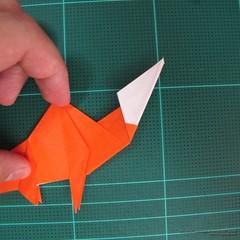 วิธีการพับกระดาษเป็นรูปไดโนเสาร์ (Origami Dinosaur) 020