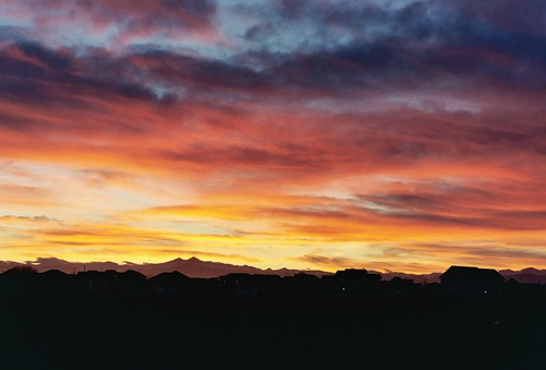 sunset sky mountains color film clouds geotagged evening nikon colorado eaton rockymountains n80 weldcounty