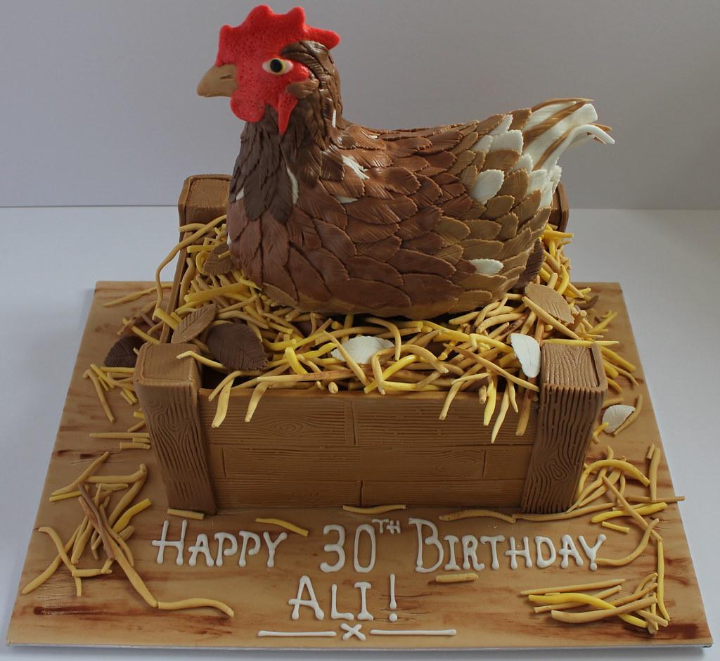 Incredible Nesting Chicken Birthday Cake Pauls Creative Cakes Flickr Birthday Cards Printable Inklcafe Filternl