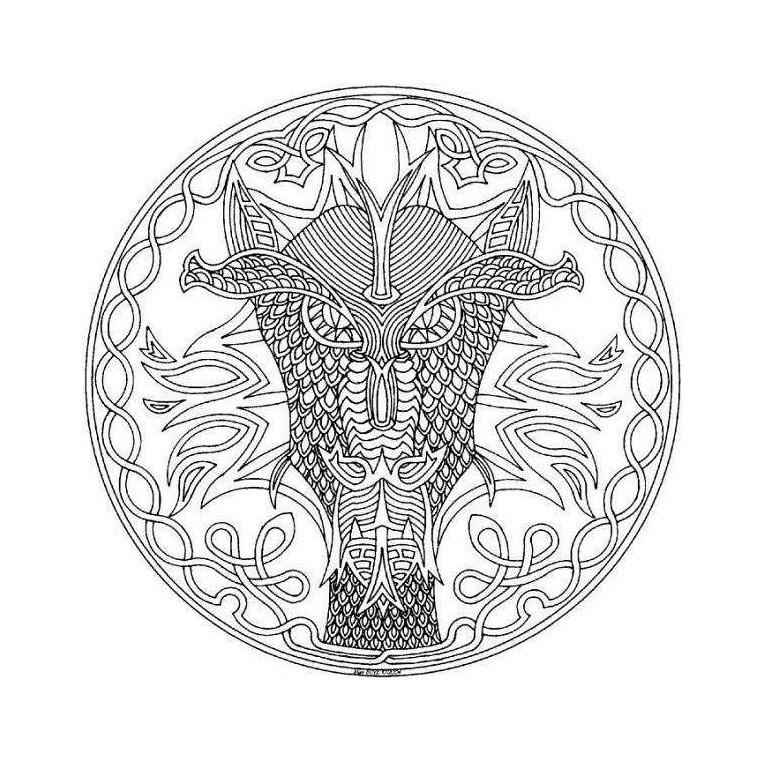 Coloriage Mandala Dragon Dimitrios Fotiou Flickr