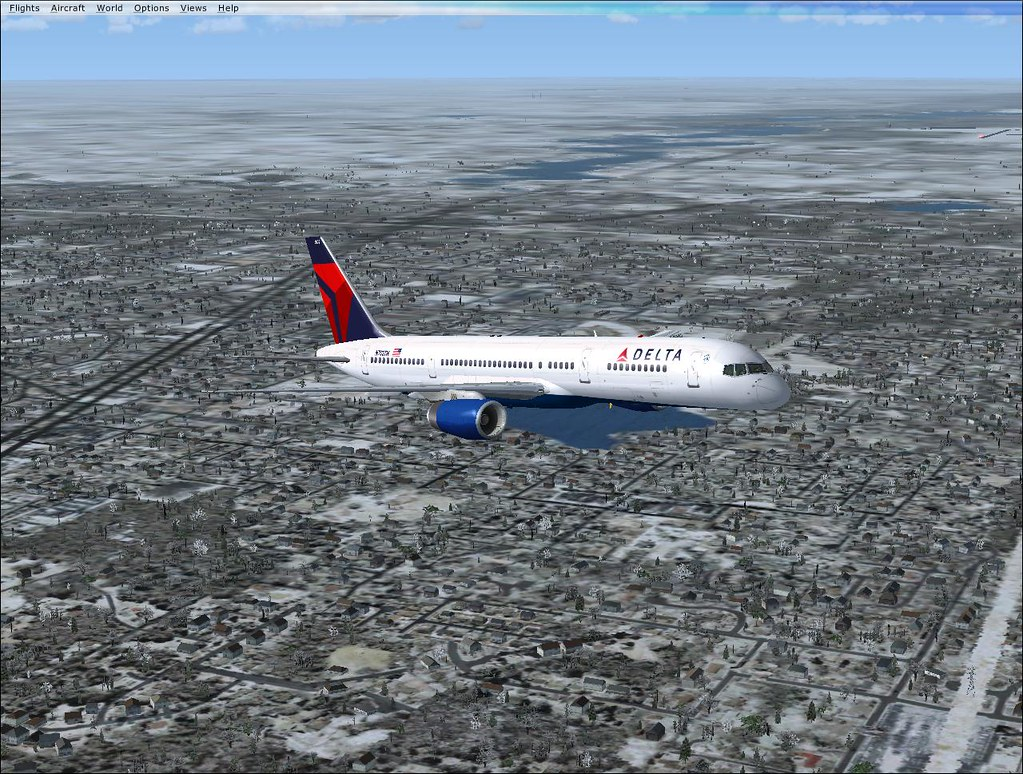 Delta 757-200 5500 in FSX | I know, FSX is awesome! This is