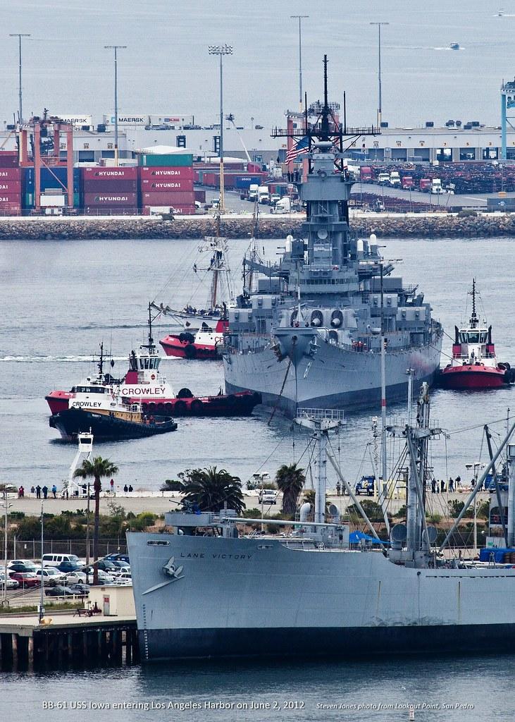 USS Iowa BB-61 6-2-12, Port of LA | The battleship is being