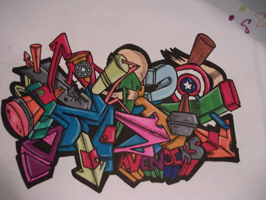 Aspire24 Avengers 3 D Graffiti This Was A Sketch I Finis