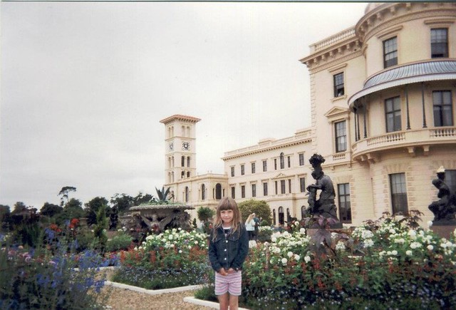 Isle Of Wight. With Chloe 2002