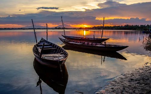 fishing an vietnam hoian hoi 6d viiagesun setcloudscloudsstormssunsetssunrisescanon