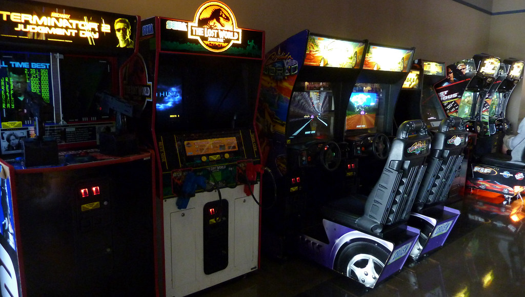 Image result for movie theater arcade