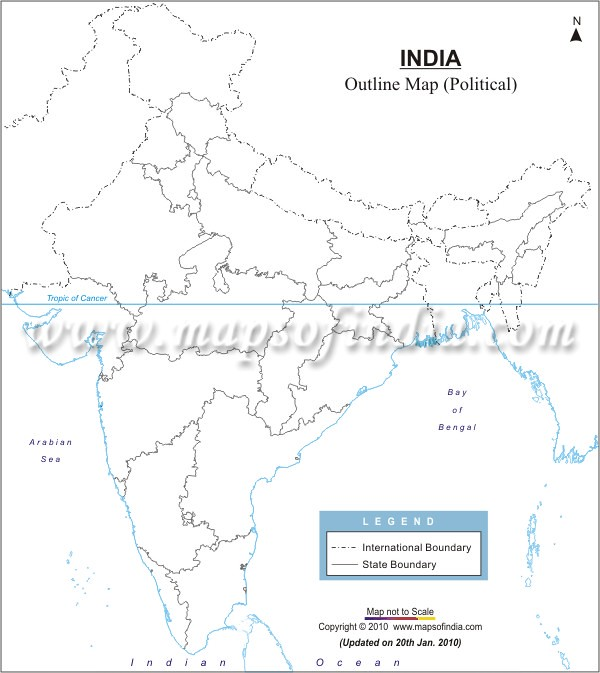 India Political Outline Map Of New on india capital map, india country map, india map with latitude and longitude, india map states, india physical map mountains, russia map outline, india map with cities, georgia state outline,