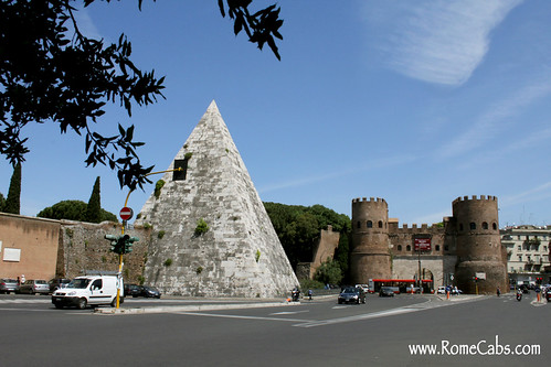 Pyramid of Cestius (Rome in A Day Tour) | by Rome Cabs
