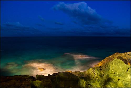 ocean sunset vacation water stars island rocks paradise waves bermuda bluehour southampton fairmont skyclouds southhampton eastwhalebay